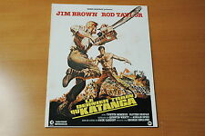 ROD TAYLOR YVETTE MIMIEUX  JIM BROWN THE MERCENARIES 1968 RARE SYNOPSIS