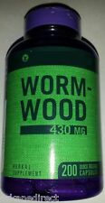 200 x Wormwood CAPSULES, 430mg STRONG Dose Artemisia Annua, Sweet Annie