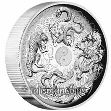 Tuvalu 2016 Ancient Chinese Mythical Creatures $1 1 Oz High Relief Silver Proof