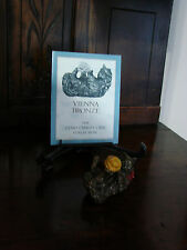 Franklin Mint**Curio Cabinet Cats**VIENNA BRONZE** With Brochure 2nd Series MINT