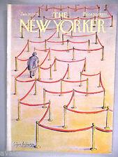 New Yorker Magazine - January 20, 1975 - FRONT COVER ONLY ~~ Eugene Mihaesco art