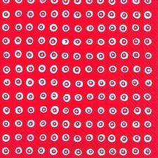Marimekko KARAKOLA red white paper table 33cm square lunch napkins 20 in pack