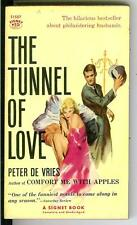 THE TUNNEL OF LOVE by De Vries rare US Signet adultery humor gga pulp vintage pb
