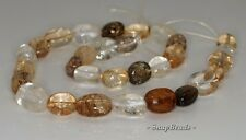 17X11MM SMOKY ROCK CRYSTAL QUARTZ GEMSTONE INCLUSIONS NUGGET LOOSE BEADS 7.5""
