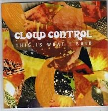 (BR370) Cloud Control, This Is What I Said - DJ CD