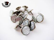 Accordion BUTTONS SILVER Harmonika Knöpfe 14.8 mm EACH