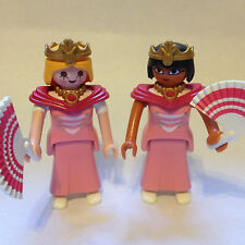 2 Playmobil Princesses / Lady figures in pink for Magic Fairytale Palace Castles