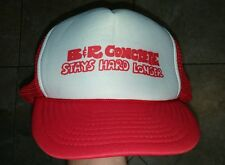 Funny Vintage B & R Concrete Stays Hard Longer Snapback Trucker Cap Hat Red
