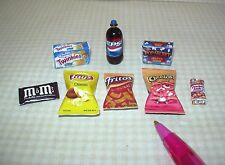 "Miniature Junk Food Assortment (SET ""A""): Chips, etc DOLLHOUSE Miniatures 1/12"