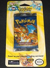 1x SEALED Base Set 1st Edition BLISTER Booster Pack Shadowless Pokemon Cards