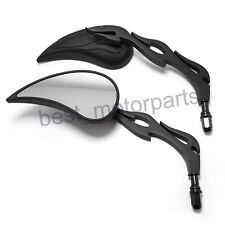 BLACK MOTORCYCLE REAR VIEW MIRRORS FOR HARLEY DAVIDSON SOFTAIL SPORTSTER DYNA