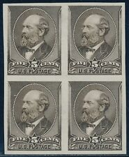 #205P3 PLATE PROOF ON INDIA PAPER BLOCK OF 4 XF+ BQ9082
