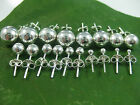 925 sterling silver round ball studs earrings 2mm,3mm,4mm,5mm,6mm,7mm,8mm to16mm