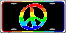 Peace Sign Rainbow Gay Pride LGBT Metal Novelty License Plate