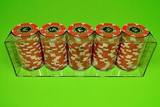 3 Poker Chip Trays - Casino Chip Racks - Each Tray Holds 100 Chips - Brand New