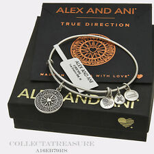 Authentic Alex and Ani True Direction Rafaelian Silver Charm Bangle