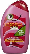 L'oreal Kids 2-in-1 Shampoo - Strawberry Smoothie - 9 oz  (3 PACK)