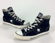 Mens Trashed Converse All Star One Star Black Hi Top Shoes Size 7.5