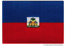 HAITI FLAG embroidered iron-on PATCH HAITIAN CARIBBEAN EMBLEM