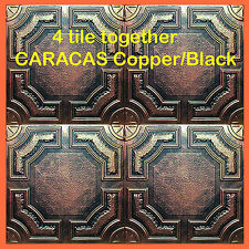 Antique Ceiling Tile - 20x20 CARACAS Copper/Black Easy Instalation, glue up