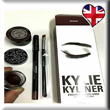 Kylie Kyliner Eyeliner & Gel Liner Set With Brush - Brown