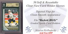 Perfect Fit Graded Sports Card Holder Tapered Sleeves 50 Pack for Beckett (BGS)