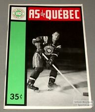 1963-64 AHL Quebec Aces Program Skippy Burchell Cover