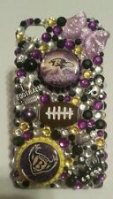 Baltimore Ravens NFL bling case 4 iPhone 4s,5,5s,5c,6,Samsung Galaxy S3,S4&S5