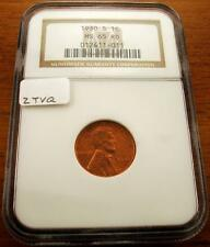 1930-S 1C RD Lincoln Cent NGC MS65RD #011 - BIN w/FREE SHIPPING!!
