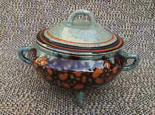 Ancien pot poubelle de table déco style Vallauris vintage french antique pottery
