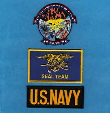 US NAVY USN SEALS Seal Team 6 Sew Iron On NOVELTY MILITARIA PATCH SET 3 Pcs New