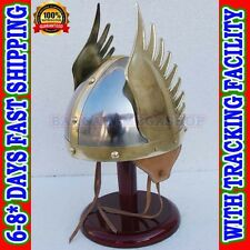 Medieval Viking Helmet For Sale  Winged Norman Armor Helm + Liner, Wearable SCA
