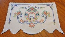 Hand Embroidered Vintage Doily Arm Chair Vanity Linen 11 x 15.5