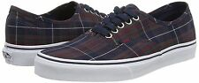 Vans Off the Wall Authentic Plaid Dress Blues Mens Shoes 11.5 Sneakers Lace Up