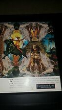 Earth, Wind, and Fire Millennium Rare Original Promo Poster Ad Framed!