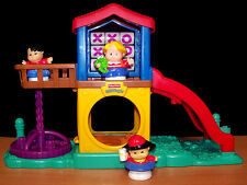 Fisher-Price Little People Fun Sounds Playground with 3 Little People - VGC