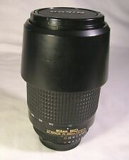 Nikon ED AF Nikkor 70-300mm f/4-5.6 D Camera Lens W/ Instr. Caps HB-15 Hood NR