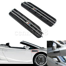 2x E36 E46 E90 Black Side Fender Air Flow Vents Grille Grill For BMW 3 Series
