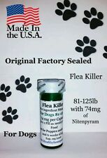 K9 Flea Killer Dogs 81-125 lb 6+1 FREE Killer generic Capstar Sealed Controls