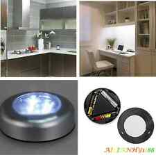 3 LED Battery Powered Stick Tap Touch Light For Home Cabinet Closet Wall lamp hy