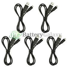 5 USB Fast Battery Charger Data Sync Cable for Android Samsung Galaxy Note 1 2 3