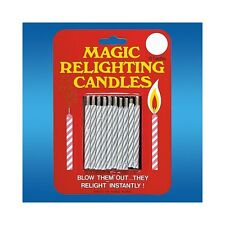 MAGIC RELIGHTING CANDLES 1 PK BIRTHDAY GAG JOKE PRANK NOVELTY MAGIC TRICKS PARTY
