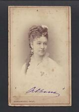 Canadian Opera Singer Emma Albani Signed Antique Imperial Russian Bergamasco CDV