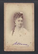 Canadian Opera Singer Emma Albani Signed Antique Imperial Russian Bergamasco CDV