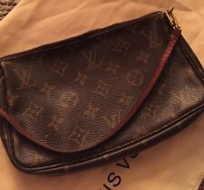Authentic Louis Vuitton Monogram Pochette Accessories Clutch
