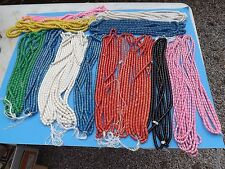 Vintage NOS  LOT 1000's MADE IN JAPAN Plastic Multi Colored Beads Bright Colors