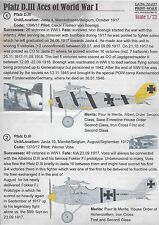 PRINTSCALE DECALS Pfalz D.III Aces of WWI 1/72 *FREE POSTAGE WITH KIT*