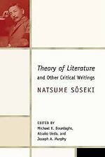 Theory of Literature and Other Critical Writings (Weatherhead Books on Asia), Na