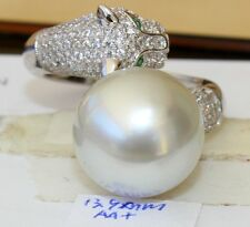 AA+ 13.9MM AUS SOUTH SEA PEARL STERLING SILVER RING
