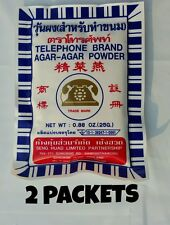 Agar Agar Powder - Telephone Brand 2 pack - 50g Total - ships from USA